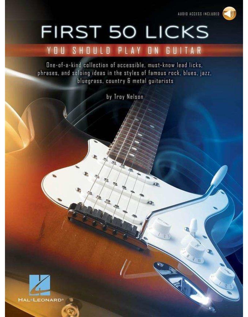 Hal Leonard First 50 Licks you should play on guitar