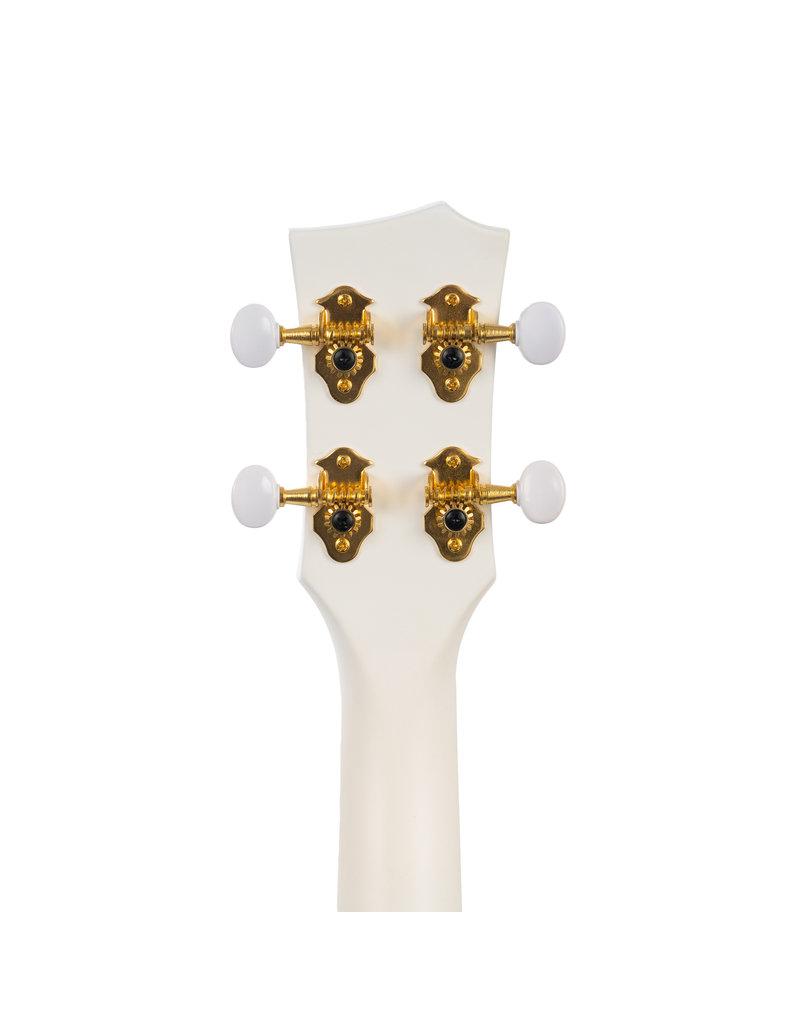 Cascha HH2286 Carbon fibre white concert ukulele