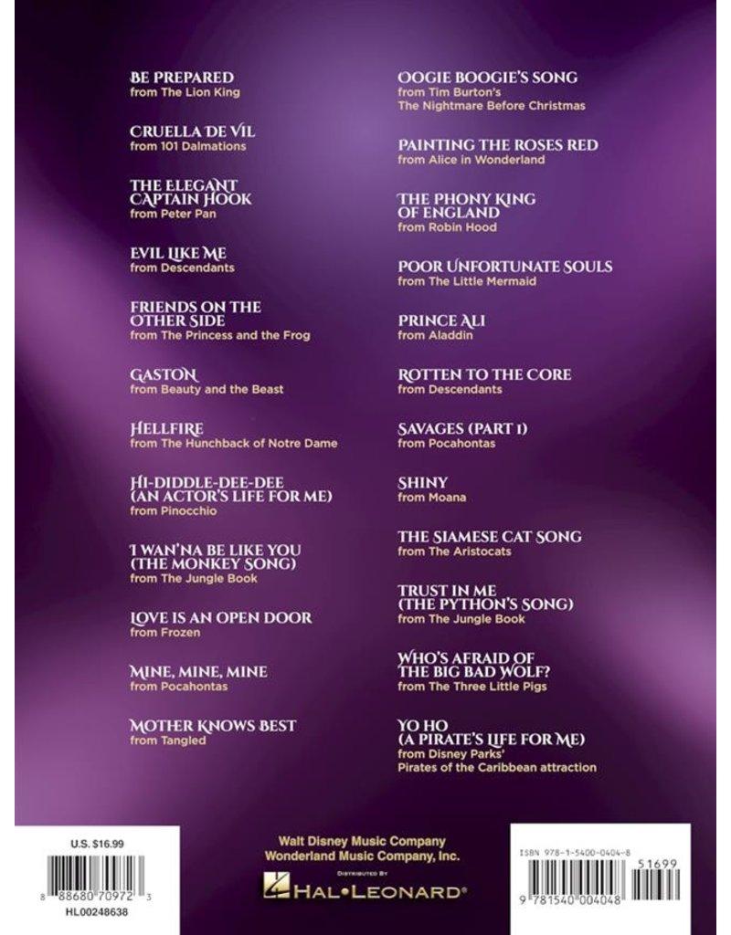 Hal Leonard Disney Villains Piano-Zang-Gitaar