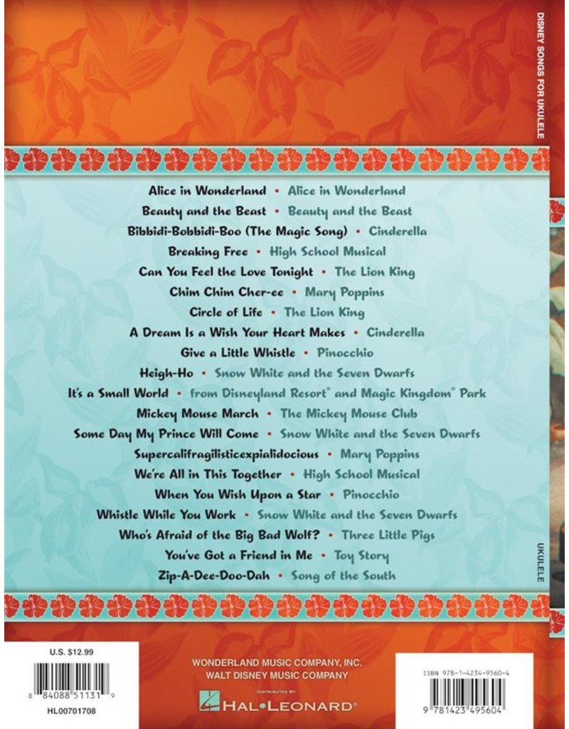 Hal Leonard Disney Songs for Ukulele