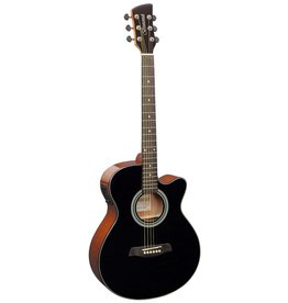 Brunswick BTK50 BK Akoestisch/elektrisch gitaar zwart