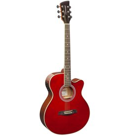 Brunswick BTK50 RD Acoustic/electric guitar red