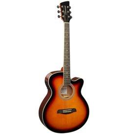 Brunswick BTK50 SB Akoestisch/elektrisch gitaar sunburst