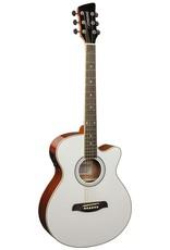 Brunswick BTK50 MW Akoestisch/elektrisch gitaar wit