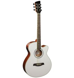 Brunswick BTK50 MW Acoustic/electric guitar white