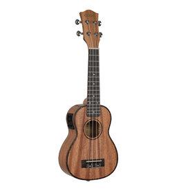 Cascha mahogany acoustic/electric soprano ukulele bundle