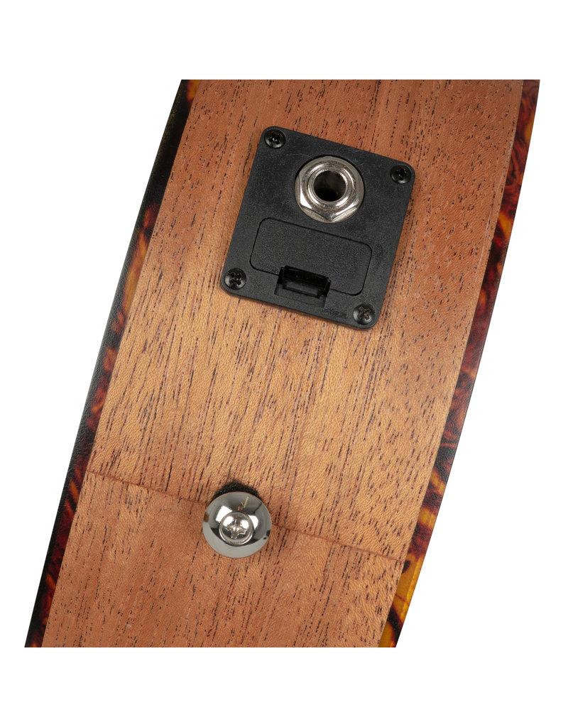 Cascha HH2026E Mahogany acoustic/electric soprano ukulele bundle
