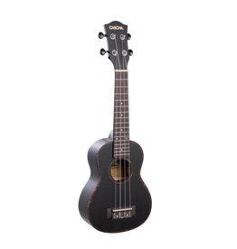 Cascha mahogany soprano ukulele black
