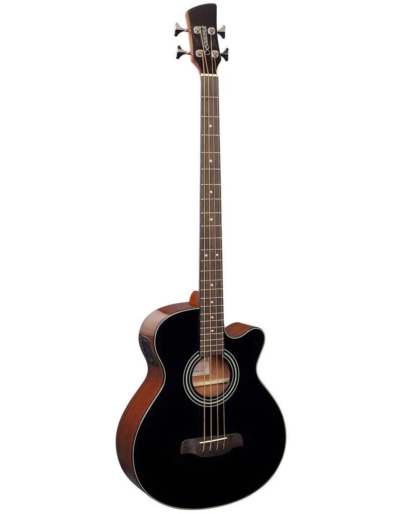 Brunswick TBJBA BK Acoustic/electric bass guitar black