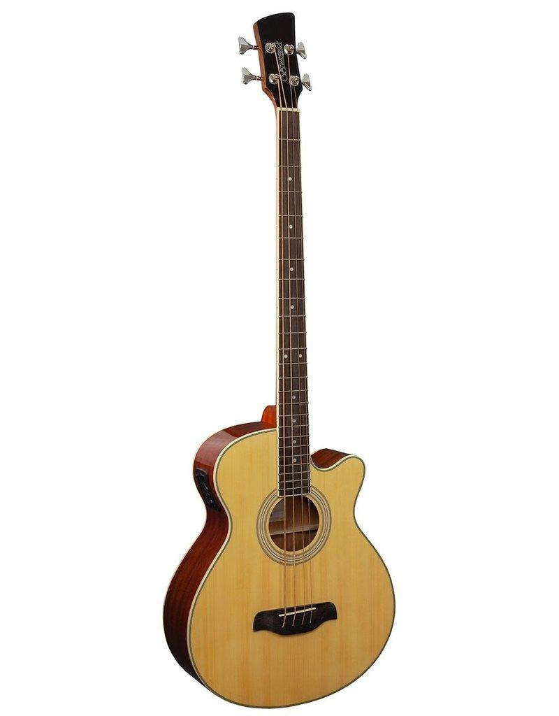 Brunswick TBJBA Acoustic/electric bass guitar natural
