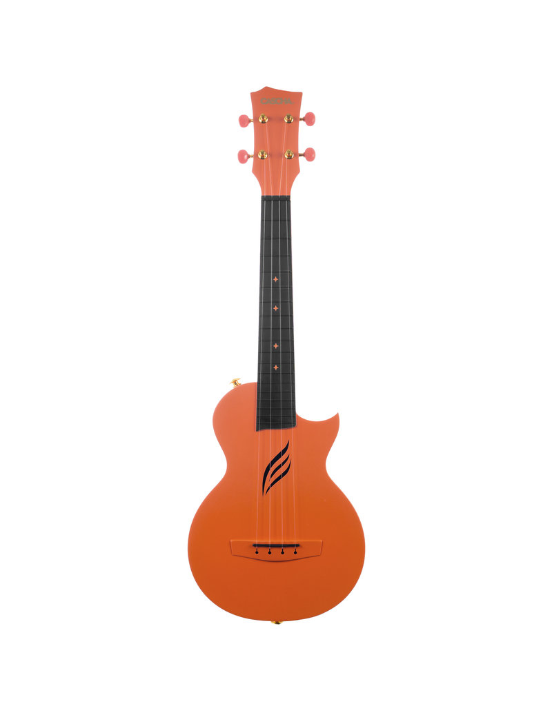 Cascha HH2289 Carbon fibre oranje concert ukelele