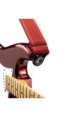 D'addario Auto Lock nylon guitar strap blood red