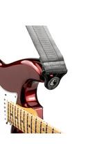 D'addario Auto Lock nylon guitar strap metal grey