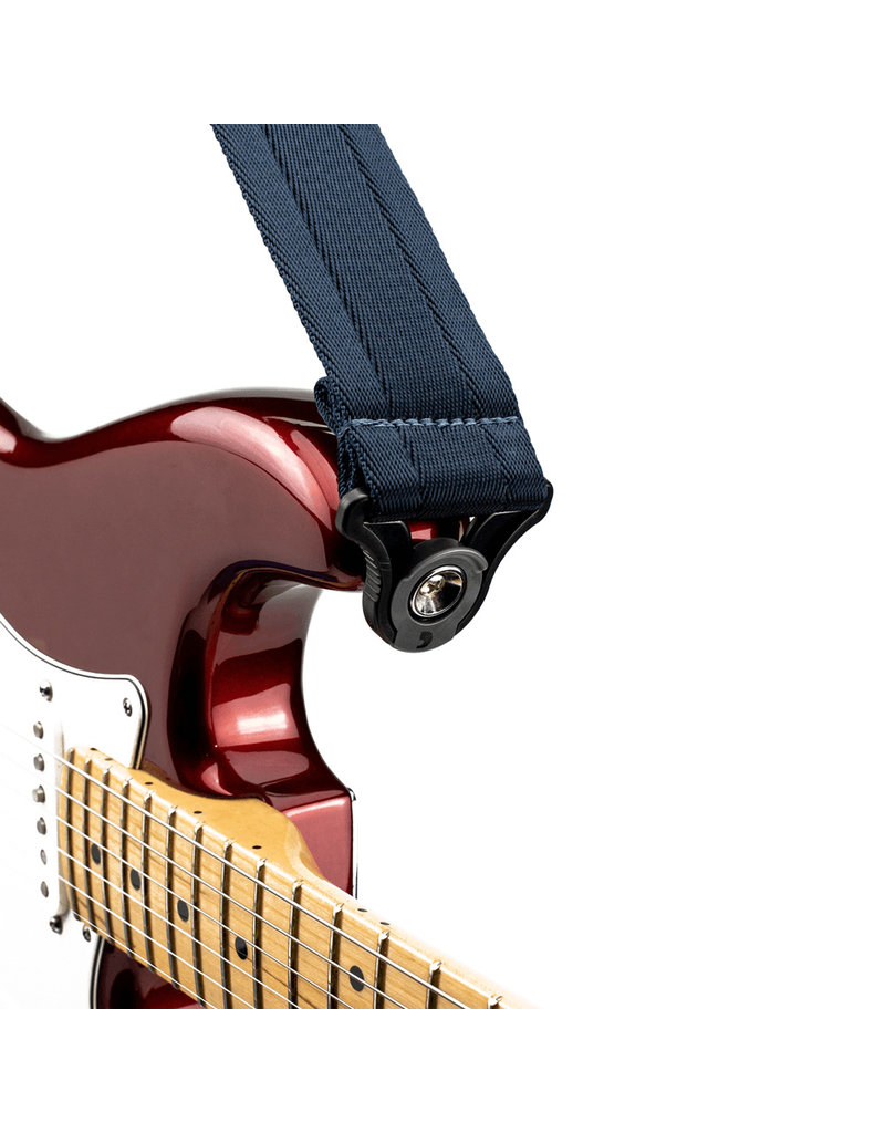 D'addario Auto Lock nylon guitar strap midnight