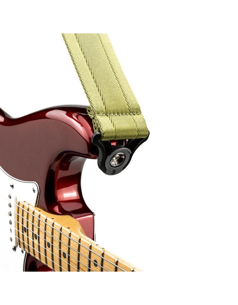 D'addario Auto Lock nylon guitar strap moss