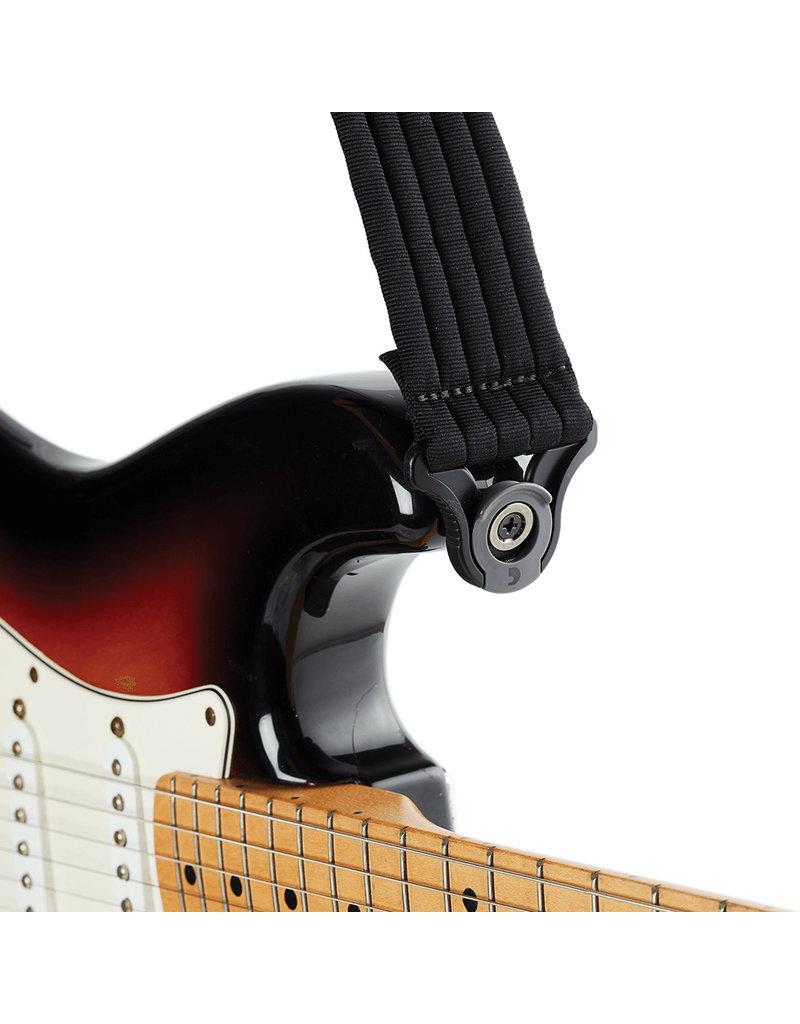 D'addario Auto Lock nylon guitar strap padded black
