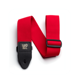 Ernie Ball Polypro guitar strap red