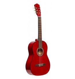 Stagg 1/2 klassiek gitaar rood
