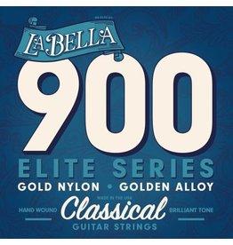 La Bella Gold nylon/gold polished alloy klassiek gitaar snaren