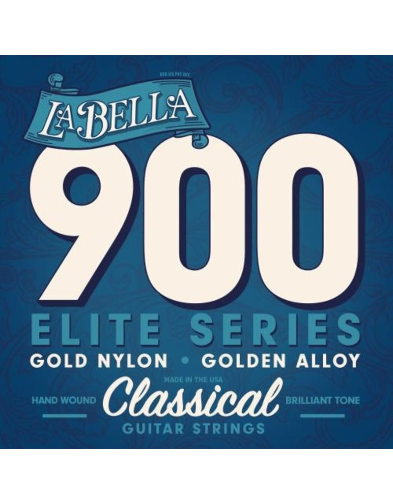 La Bella 900 Gold nylon/gold polished alloy klassieke gitaarsnaren