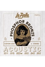 La Bella 7GPCL Custom light acoustic guitar strings 011-052
