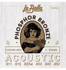 La Bella 7GPCL acoustic guitar strings 011-052