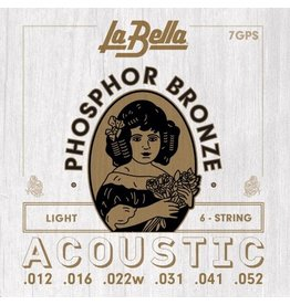 La Bella 7GPS acoustic guitar strings 012-052