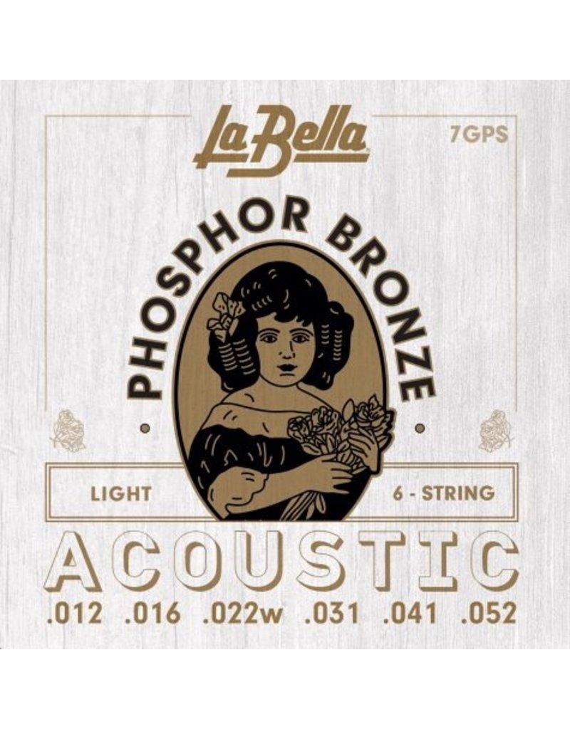 La Bella 7GPS Light acoustic guitar strings 012-052