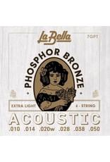 La Bella 7GPT Extra light acoustic guitar strings 010-050