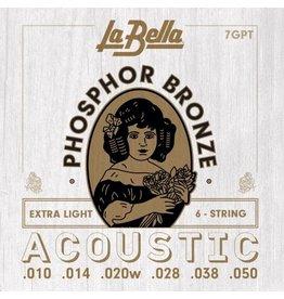 La Bella 7GPT acoustic guitar strings 010-050