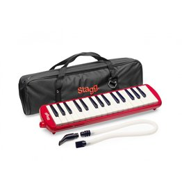 Stagg Melodica 32-tonen rood