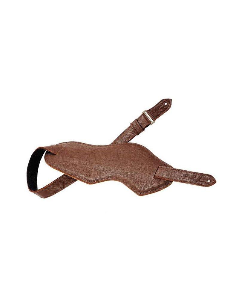 M92-BRN Leather guitar strap