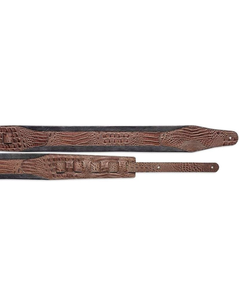 Stagg SLPL-57-BRN/BLK Leather guitar strap