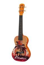 Korala PUC-30-008 Polycarbonate concert ukulele Hawaii orange