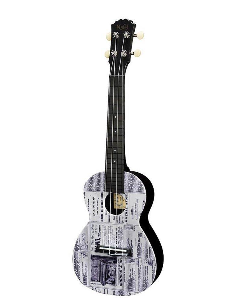 Korala PUC-30-018 Polycarbonate concert ukulele Newspaper