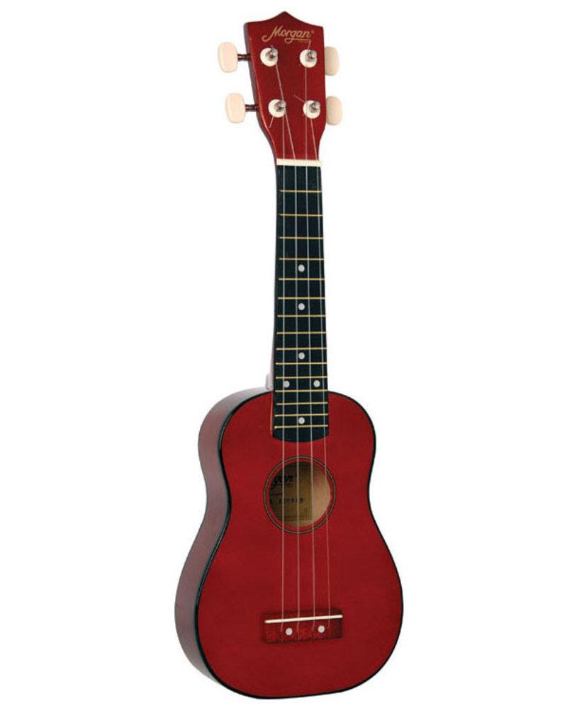 Morgan UKS100 RD soprano ukulele red
