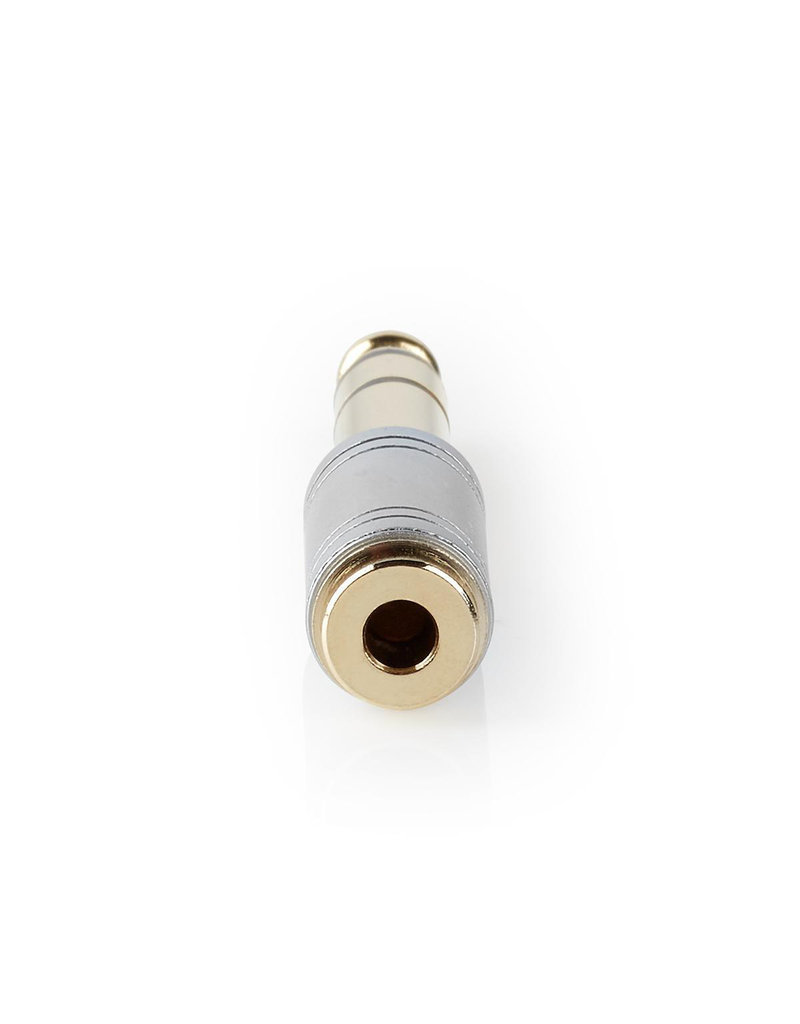 Nedis Jack adapter 6,35 mm to 3,5 mm gold plated