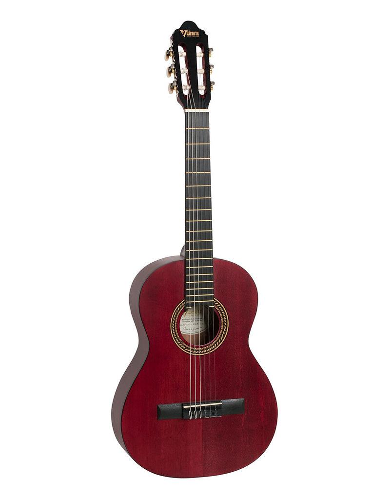 Valencia VC201 TWR 1/4 Klassiek gitaar antique rood