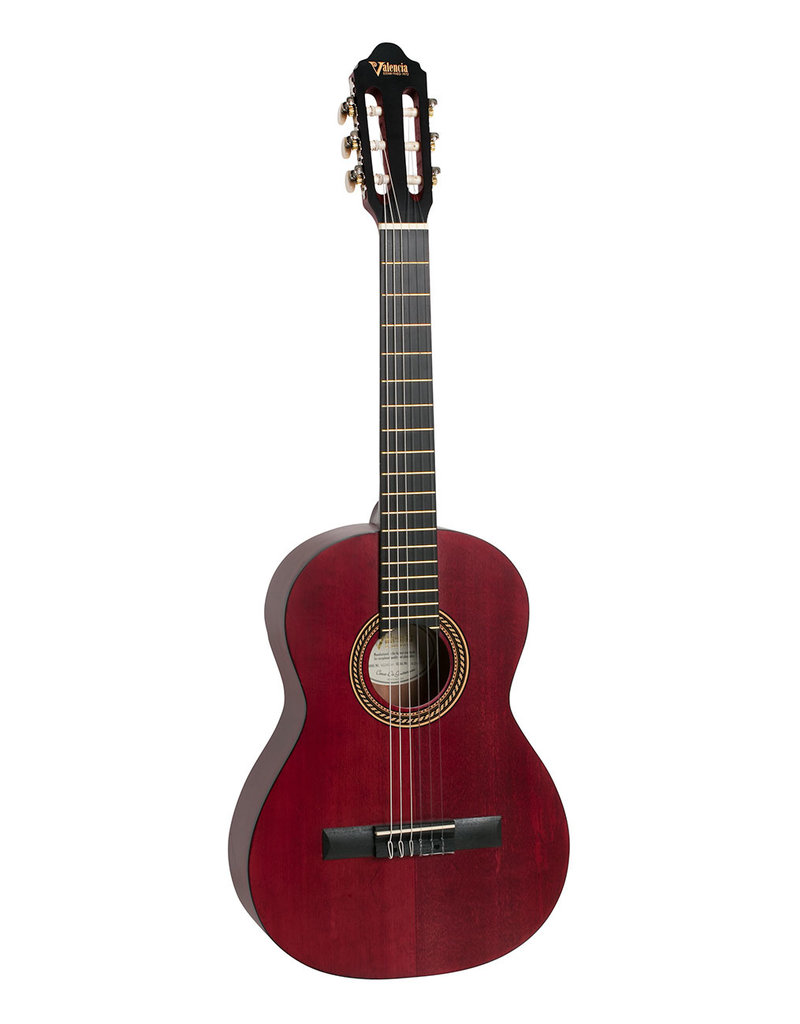 Valencia VC202 TWR  1/2 Klassiek gitaar antique rood