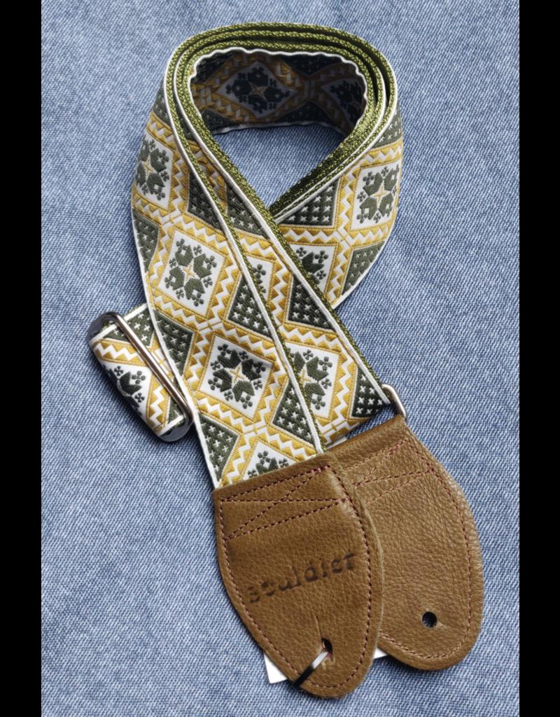 Souldier Rustic Olive/Gold  guitar strap