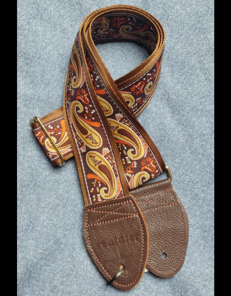 Souldier Paisley Brown/Gold guitar strap