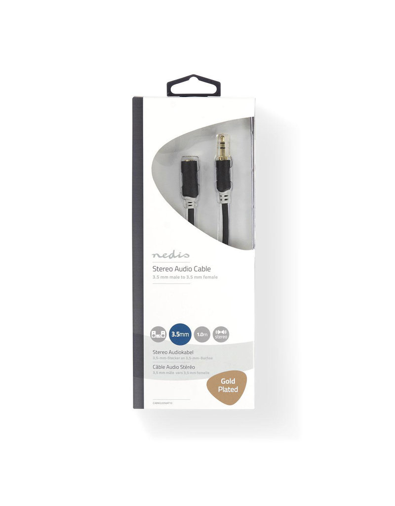 Nedis Stereo 3,5 mm jack extension cable 1 meter