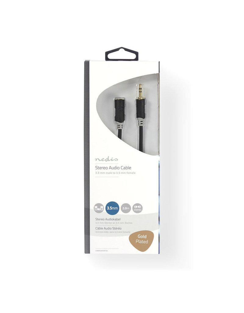 Nedis Stereo 3,5 mm jack extension cable 2 meter