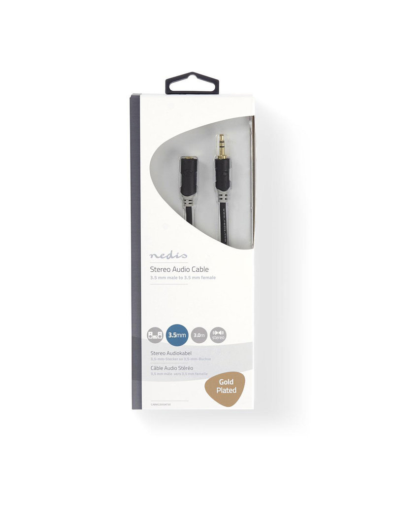 Nedis Stereo 3,5 mm jack extension cable 3 meter