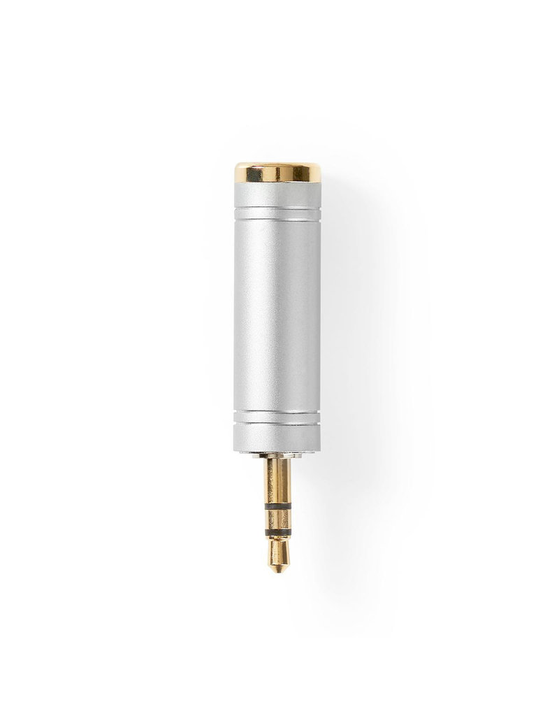 Nedis Jack adapter 3.5 mm to 6.35 mm gold plated