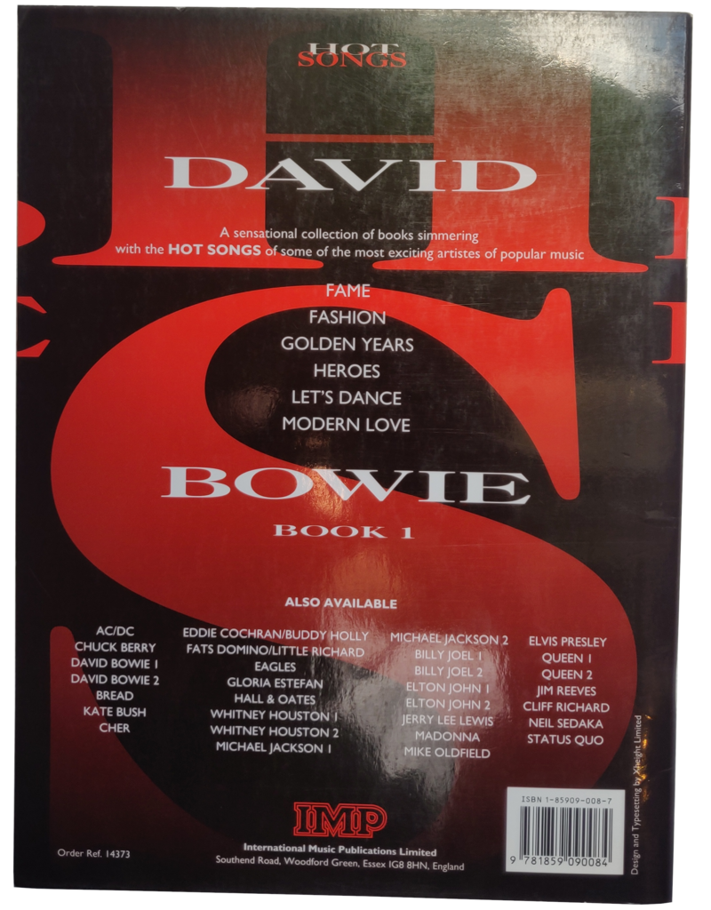 David Bowie - Hot songs book 1