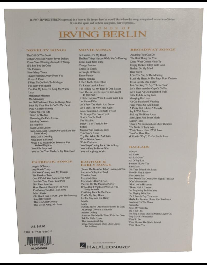 Irving Berlin - Broadway songs
