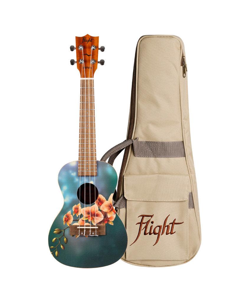 Flight AUC-33 Orchid concert ukelele