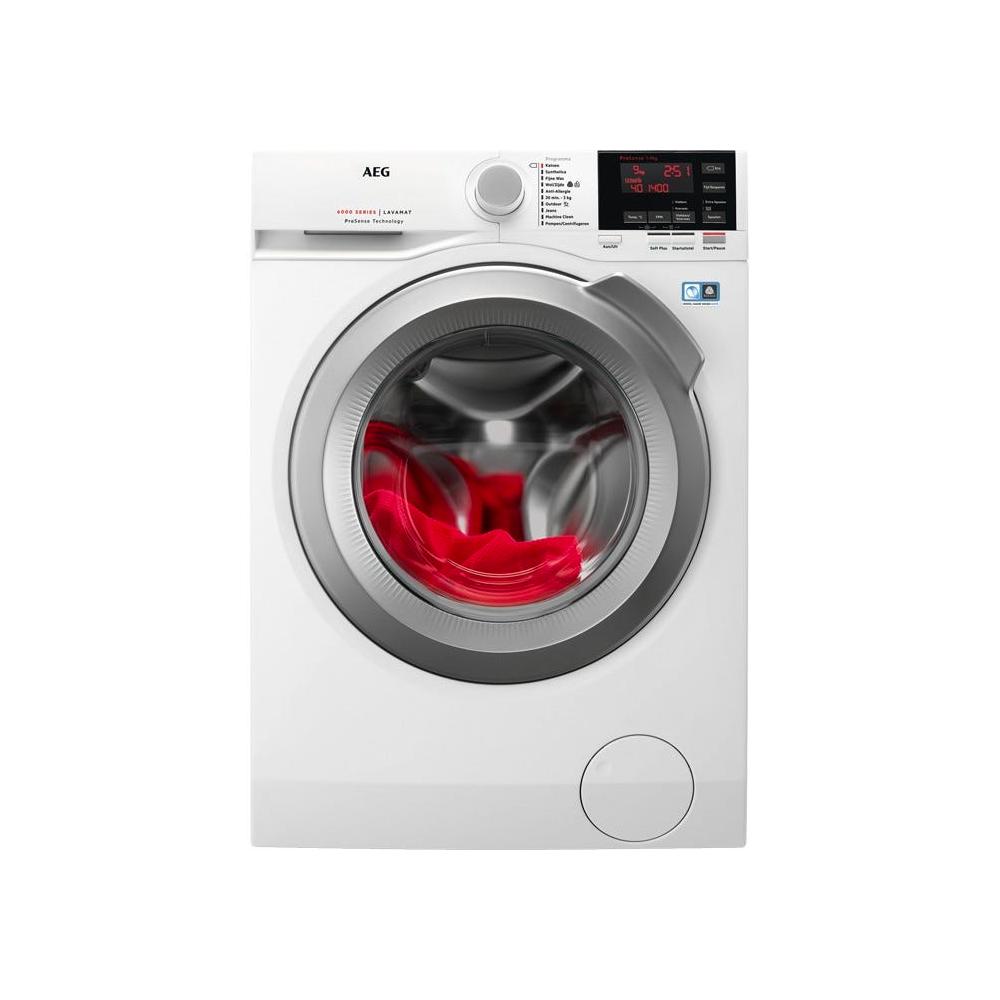 AEG AEG L6FBBERLIN wasmachine Vrijstaand Voorbelading Wit 9 kg 1400 RPM A+++-20%