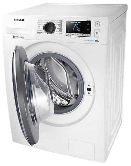 SAMSUNG SAMSUNG WW81J5426FW  WasmachineWasmachine vrijstaand, 8kg, 1400 tpm, EcoBubble, Energie A+++-40%